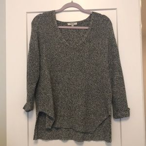 Madewell grey and white sweater